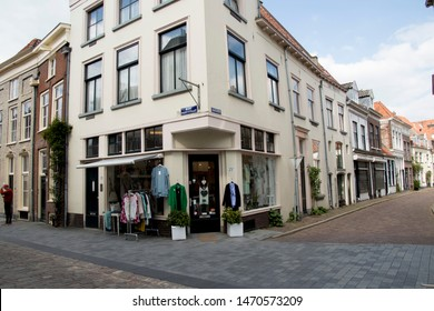 Netherlands,Overijssel,Deventer,april 2019:Marspoortstraat in the centre