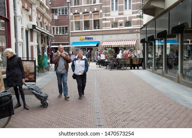 Netherlands,Overijssel,Deventer,april 2019:Turfstraat in the shopping centre