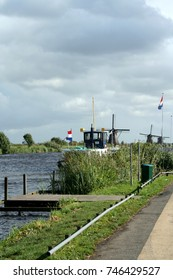 Netherlands,South Holland, Alblasserwaard, Kinderdijk ,june 2016: launch for a roundtrip along the mills