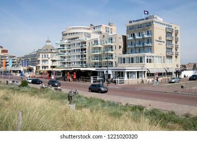 Netherlands,south holland,Noordwijk,august 2017: traffic on the Queen Wilhelmina Boulevard