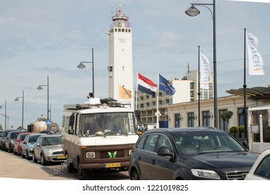 Netherlands,south holland,Noordwijk,august 2017:Lighthouse on the Queen Wilhelmina Boulevard