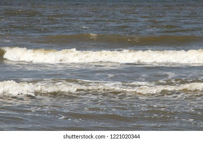 Netherlands,south holland,Noordwijk,august 2017:Surf on the beach