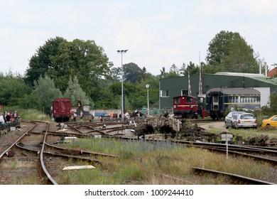Netherlands,South Limburg,Simpelveld,ZLSM,june 2016: marshalling yard