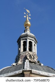 Netherlands,South-Holland,Leiden august 2016: the top of the Mare church