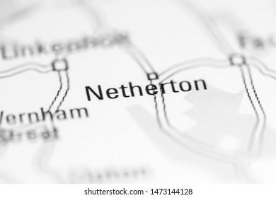 Netherton. United Kingdom on a geography map