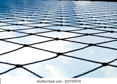 Nets and Blue sky background.