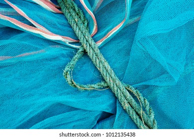 Nets and ropes high of trawling the ocean