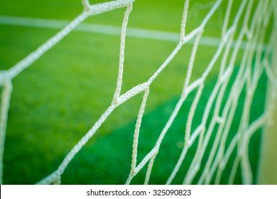Nets of a soccer field