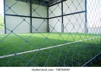 Netting the football.