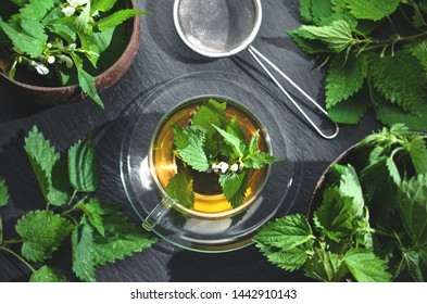 Nettle tea phytotherapy, natural medicine