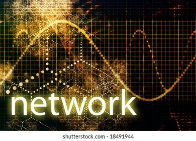 Network Abstract Business Concept Wallpaper Presentation Background