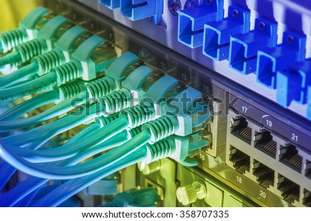 Network Cable Connecting On Network Core Stock Photo (Edit Now ...