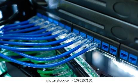 Imágenes, fotos de stock y vectores sobre Plugging Network Cables