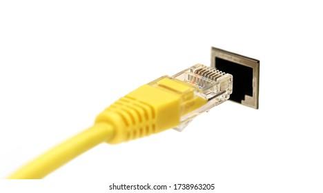 Network cable,network connection plug RJ-45,LAN.