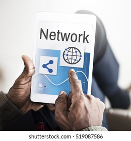 Network Communication Connection Share Concept