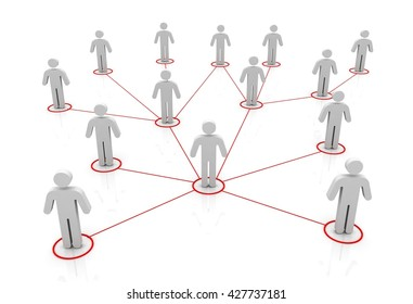 network connections 3d illustration