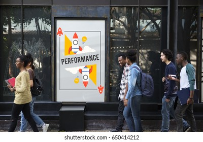 Network graphic overlay billboard on wall