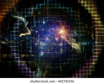 Network series. Artistic background made of connected abstract elements for use with projects on networking, science, education and modern technology