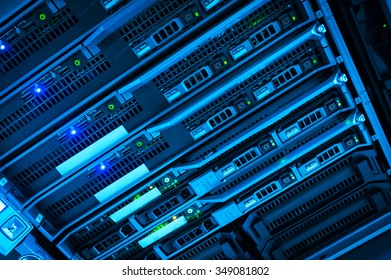 An Network servers in data room .