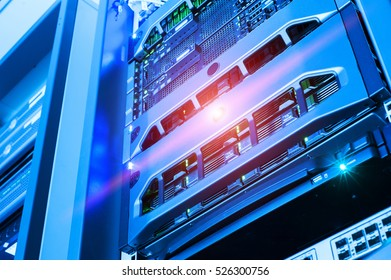 Network servers in data room