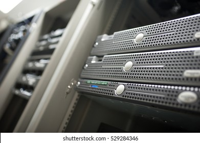 Network servers in data room Domestic Room .