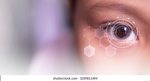 network technology eye and  communication