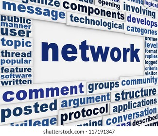 Network technology message background. Communication poster design