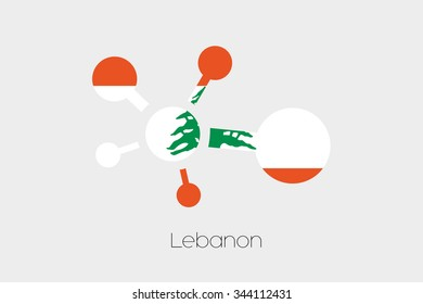 A Networking Icon with the Flag of Lebanon