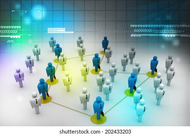 Networking people