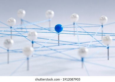 Networking and social media concept for network, community, recruitment and team work