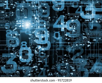 Networking technology background suitable as a backdrop for projects on technology, networks, computing and digital communications
