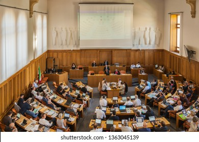 Neuchatel,Switzerland-Sept.05,2018:Parliament of Neuchatel inside the castle Neuchatel,Switzerland