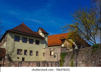 NEUENBUERG, GERMANY, April 07 2015: Castle in Neuenbuerg near Pforzheim, Black Forest Germany