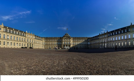 Neues Schloss Schlossplatz Stuttgart Exterior Entrance Panorama Landmark Historical Culture Architecture Monument 16 October 2016