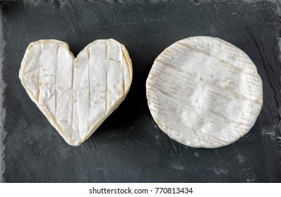 Neufchatel cheese and a Camembert cheese of Normandy