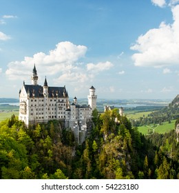Neuschwanstein Castle, Bavaria, Germany. Square.