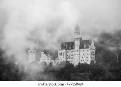 Neuschwanstein Castle in the Bavarian Alps of Germany