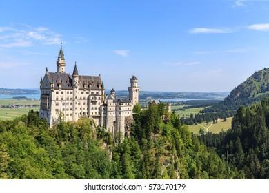 Neuschwanstein castle in Bavarian alps, Germany.