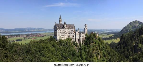 Neuschwanstein Castle in Bayern region