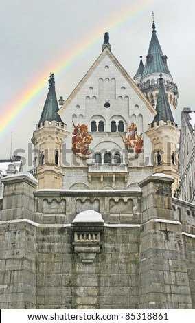 Neuschwanstein Castle during the
