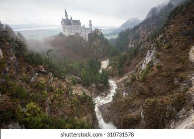 Neuschwanstein castle in early spring, Bavaria, Germany