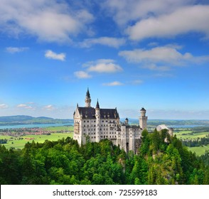 Neuschwanstein Castle the famous castle in Germany located in Fussen, Bavaria, Germany