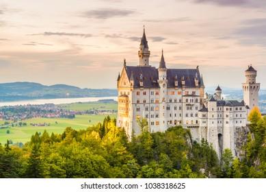Neuschwanstein Castle in Fussen, Germany.
