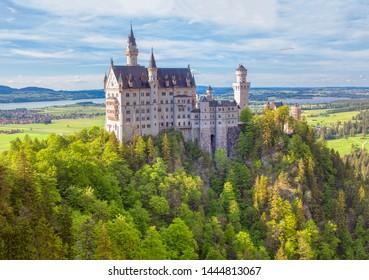 Neuschwanstein Castle in Fussen , Germany