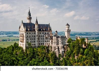 Neuschwanstein castle in Germany, built by Ludwig II