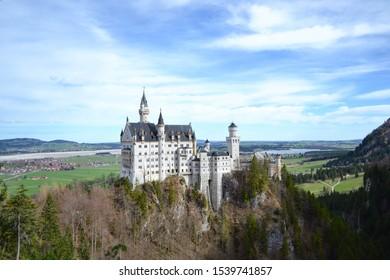 Neuschwanstein Castle, model of Disney Castle in Füssen Germany (Ludwig King)