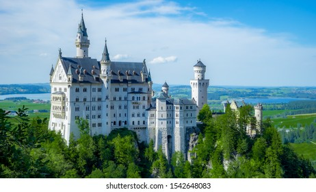Neuschwanstein Castle. It is a must destination if you are visiting Bavaria, Germany.   This castle is als the real life castle inspired in Disney's Cinderella Castle.
