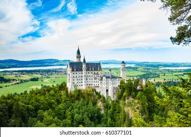 Neuschwanstein castle. One of the most famos and beautiful castle in the world