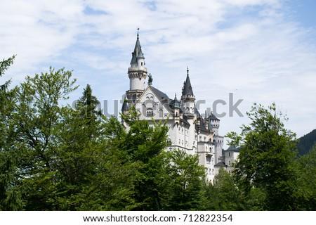 Neuschwanstein Castle from reverse
