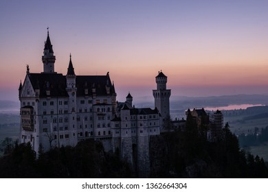 The Neuschwanstein Castle, a view from the Bridge